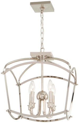 Jupiter'S Canopy 4 Light Semi Flush Mount In Polished Nickel Finish by Minka Lavery 4773-613