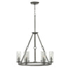 Dakota Chandelier by Hinkley 4786PL Polished Antique Nickel