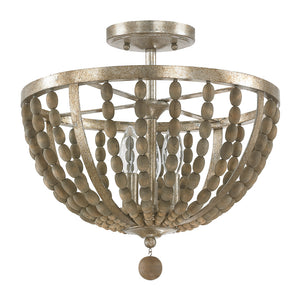 Capital Lighting Lowell 4795TZ 3 Light Semi Flush Mount in Tuscan Bronze