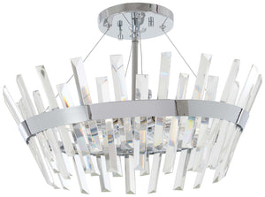 Echo Radiance 6 Light Semi Flush Mount In Chrome Finish by Minka Lavery 4811-77