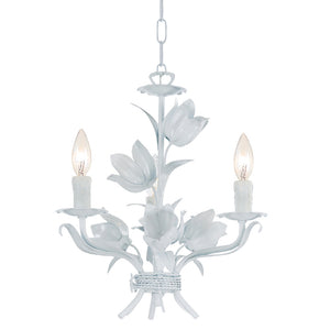 Crystorama 4813-WW Southport 3 Light Wet White Mini Chandelier
