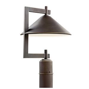 Ripley 1 Light Outdoor Post Lantern in Olde Bronze Finish by Kichler 49063OZ