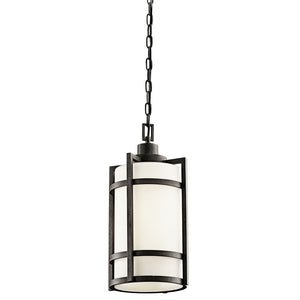 Camden 1 Light Outdoor Hanging Pendant in Anvil Iron Finish by Kichler 49124AVI