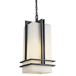 Tremillo 1 Light Outdoor Hanging Pendant in Black Finish by Kichler 49205BK