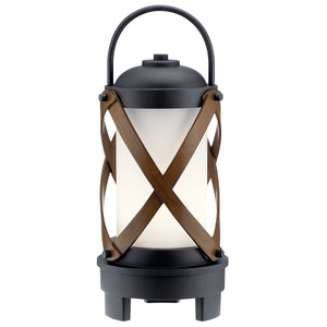 Berryhill LED Outdoor Portable Lantern in Textured Black Finish by Kichler 49239BKTLED