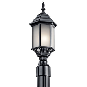 Chesapeake 1 Light Outdoor Post Lantern in Black Finish by Kichler 49256BKS