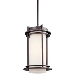Pacific Edge 1 Light Outdoor Hanging Pendant in Architectural Bronze Finish by Kichler 49348AZ
