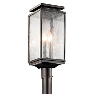 Manningham 3 Light Outdoor Post Lantern in Olde Bronze Finish by Kichler 49388OZ