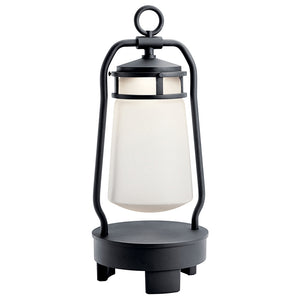 Lyndon LED Outdoor Portable Lantern in Textured Black Finish by Kichler 49500BKTLED