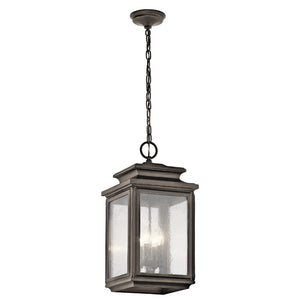 Wiscombe Park 4 Light Outdoor Hanging Pendant in Olde Bronze Finish by Kichler 49505OZ