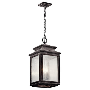 Wiscombe Park 4 Light Outdoor Hanging Pendant in Weathered Zinc Finish by Kichler 49505WZC