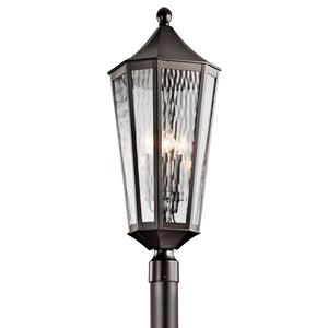 Rochdale 4 Light Outdoor Post Lantern in Olde Bronze Finish by Kichler 49516OZ