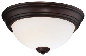 Overland Park 2 Light Flush Mount In Vintage Bronze Finish by Minka Lavery 4960-284