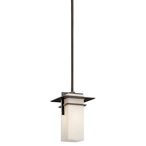 Caterham 1 Light Outdoor Hanging Pendant in Olde Bronze Finish by Kichler 49640OZ