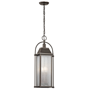 Harbor Row 4 Light Outdoor Hanging Pendant in Olde Bronze Finish by Kichler 49718OZ