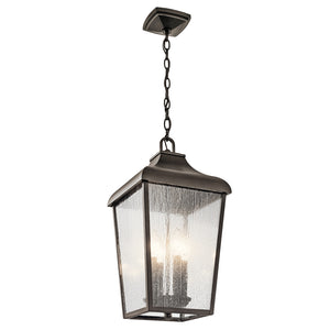 Forestdale 4 Light Outdoor Hanging Pendant in Olde Bronze Finish by Kichler 49740OZ