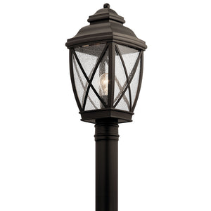 Tangier 1 Light Outdoor Post Lantern in Olde Bronze Finish by Kichler 49843OZ
