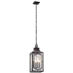Bay Village 4 Light Outdoor Hanging Pendant in Weathered Zinc Finish by Kichler 49933WZC