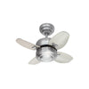 "Mini 20 Fan 20"" Brushed Steel Indoor Ceiling Fan by Monte Carlo Fans 4MC20BS"