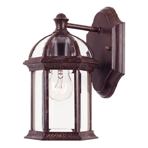 Kensington 1 Light Outdoor Wall Lantern in Rustic Bronze Finish by Savoy House 5-0629-72
