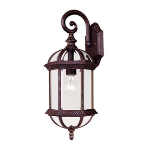 Kensington 1 Light Outdoor Wall Lantern in Rustic Bronze Finish by Savoy House 5-0630-72