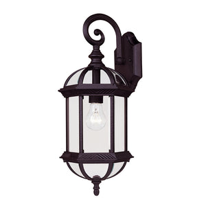 Kensington 1 Light Outdoor Wall Lantern in Textured Black Finish by Savoy House 5-0630-BK