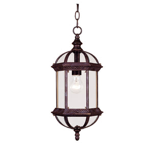 Kensington 1 Light Outdoor Hanging Lantern in Rustic Bronze Finish by Savoy House 5-0631-72