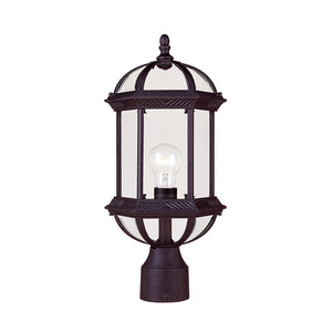 Kensington 1 Light Outdoor Post Lantern in Textured Black Finish by Savoy House 5-0632-BK