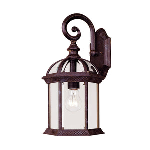 Kensington 1 Light Outdoor Wall Lantern in Rustic Bronze Finish by Savoy House 5-0633-72
