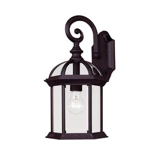 Kensington 1 Light Outdoor Wall Lantern in Textured Black Finish by Savoy House 5-0633-BK