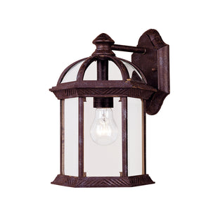 Kensington 1 Light Outdoor Wall Lantern in Rustic Bronze Finish by Savoy House 5-0634-72
