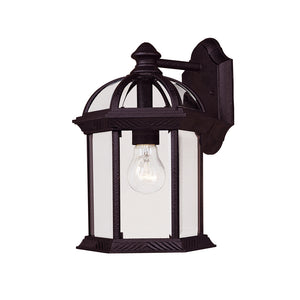 Kensington 1 Light Outdoor Wall Lantern in Textured Black Finish by Savoy House 5-0634-BK