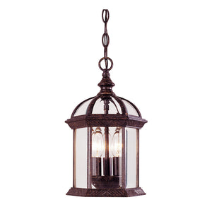 Kensington 3 Light Outdoor Hanging Lantern in Rustic Bronze Finish by Savoy House 5-0635-72