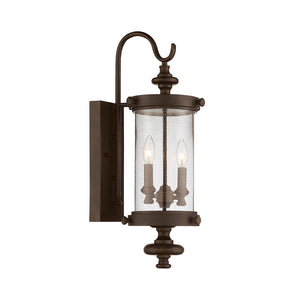 Palmer 2 Light Outdoor Wall Lantern in Walnut Patina Finish by Savoy House 5-1220-40
