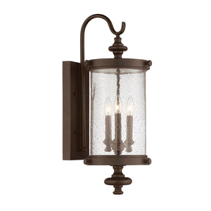 Palmer 3 Light Outdoor Wall Lantern in Walnut Patina Finish by Savoy House 5-1221-40