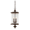 Palmer 3 Light Outdoor Hanging Lantern in Walnut Patina Finish by Savoy House 5-1222-40