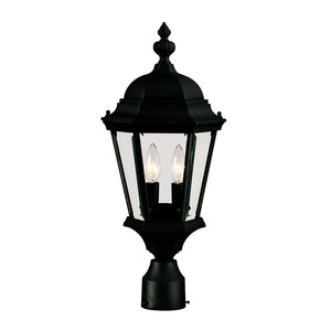 Wakefield 2 Light Outdoor Post Lantern in Textured Black Finish by Savoy House 5-1305-BK