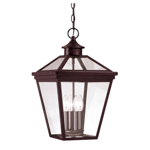 Ellijay 4 Light Outdoor Hanging Lantern in English Bronze Finish by Savoy House 5-145-13