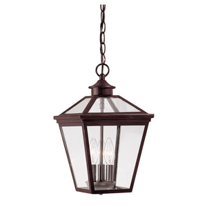 Ellijay 3 Light Outdoor Hanging Lantern in English Bronze Finish by Savoy House 5-146-13