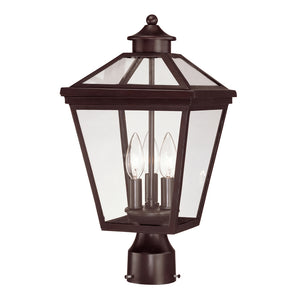 Ellijay 3 Light Outdoor Post Lantern in English Bronze Finish by Savoy House 5-147-13