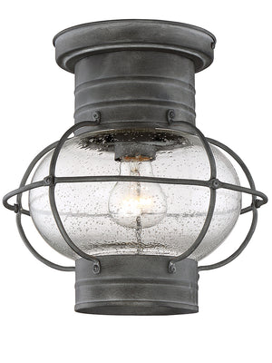 Enfield 1 Light Flush Mount Flush Mount in Oxidized Black Finish by Savoy House 5-224-88