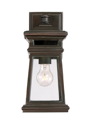 Taylor 1 Light Outdoor Wall Lantern in English Bronze w/ Gold Finish by Savoy House 5-240-213