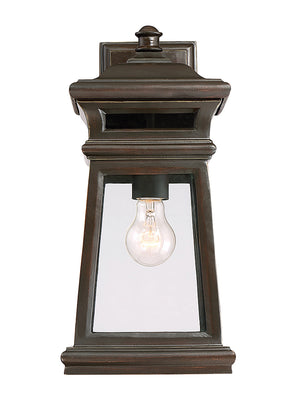 Taylor 1 Light Outdoor Wall Lantern in English Bronze w/ Gold Finish by Savoy House 5-241-213