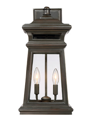 Taylor 2 Light Outdoor Wall Lantern in English Bronze w/ Gold Finish by Savoy House 5-242-213
