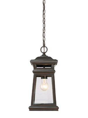 Taylor 1 Light Outdoor Hanging Lantern in English Bronze w/ Gold Finish by Savoy House 5-243-213