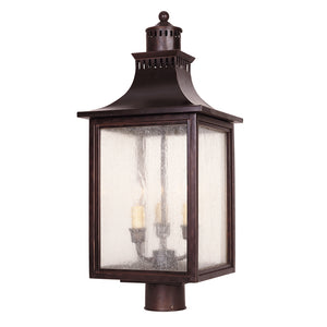 Monte Grande 3 Light Outdoor Post Lantern in English Bronze Finish by Savoy House 5-255-13
