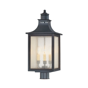 Monte Grande 3 Light Outdoor Post Lantern in Slate Finish by Savoy House 5-255-25