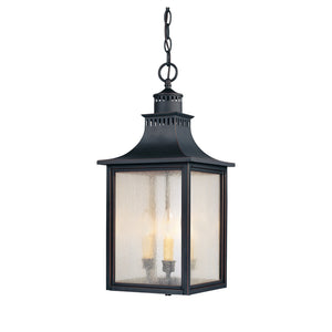 Monte Grande 3 Light Outdoor Hanging Lantern in Slate Finish by Savoy House 5-256-25