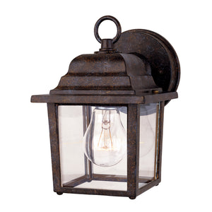 Exterior Collection 1 Light Outdoor Wall Lantern in Rustic Bronze Finish by Savoy House 5-3045-72