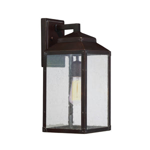 Brennan 1 Light Outdoor Wall Lantern in English Bronze w/ Gold Finish by Savoy House 5-341-213